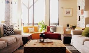 Living room at the Akasha Wellness Retreat, Romania.