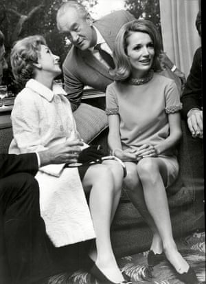 Lee Radziwill With Actors Arlene Francis And George Sanders 1967.