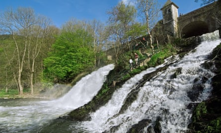 The river Amblève and the waterfalls at Coo.