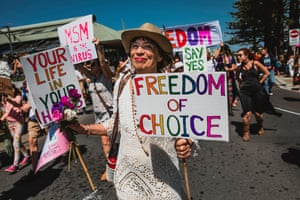 Crowd shot from the Freedom and Truth walk held in Byron Bay.