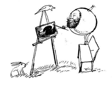 Lear the artist … self-portrait.