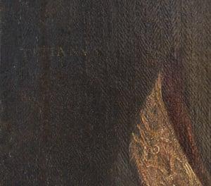 Titian painting - detail of signature Ranger's House Chesterfield Walk, Blackheath, London