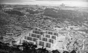 New apartment houses in Seoul, 1967.
