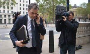 Julian Smith arriving at the Cabinet Office for the latest round of Brexit talks.