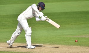Keaton Jennings clips a shot off his legs for Lancashire against Yorkshire.