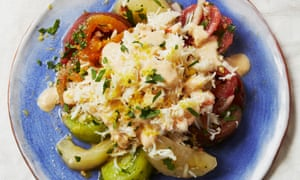 Nathan Outlaw's crab and tomato salad with horseradish dressing.