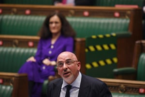 Nadhim Zahawi, the vaccine deployment minister, in the Commons earlier
