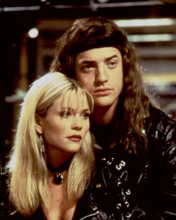With Brendan Fraser in the 1994 film Airheads.