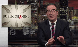 'We're basically goldfish except rather than discovering a new castle in our bowl every nine seconds, we find something new to be outraged about online' ... John Oliver
