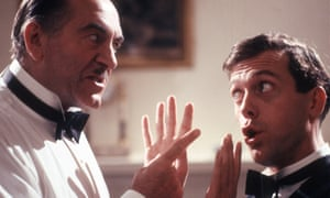 'Far from gruntled' … John Turner as Roderick Spode and Hugh Laurie as Bertie Wooster in ITV's Jeeves and Wooster.