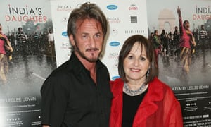 Sean Penn and Leslee Udwin at the screening of India's Daughter in Los Angeles.