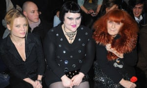 Sonia Rykiel, right,, with Melanie Thierry, left and Beth Ditto in 2010.