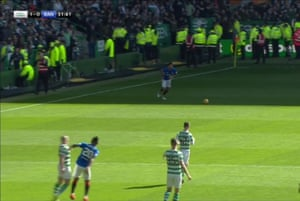 Morelos is shown a straight red card, for throwing his elbow into Brown's face.