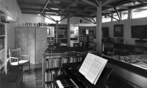 The interior of the Red House library in Aldeburgh, Suffolk, designed for Benjamin Britten and Peter Pears by Peter Collymore.