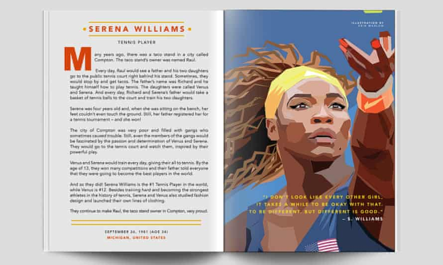 Serena Williams in Good Night Stories For Rebel Girls