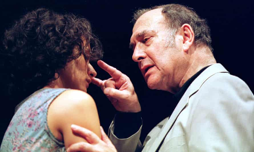 Indira Varma and Harold Pinter in the Dublin Gate theatre's production of One for the Road at the New Ambassadors in 2011.
