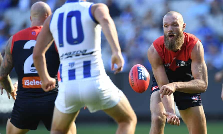 Max Gawn in the match against North Melbourne on Saturday.