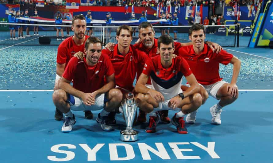 Serbia's team at the ATP Cup in Sydney