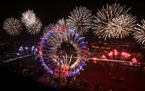 Fireworks light up the London skyline