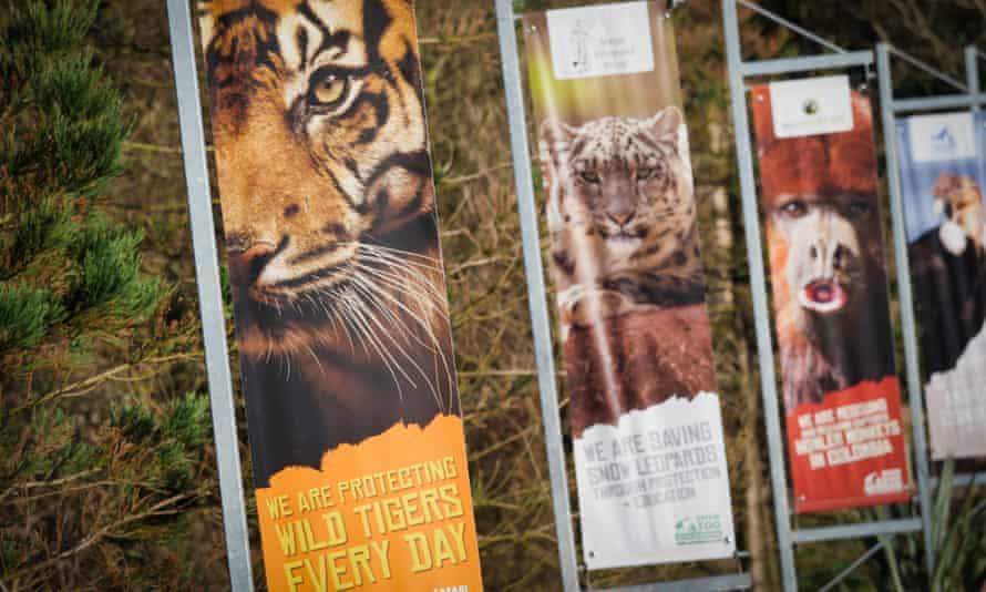 Signs at South Lakes Safari zoo