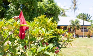 One of the red flags hanging outside homes in Samoa to indicate residents were not vaccinated against measles. Samoa has arrested an anti-vax campaigner amid the outbreak