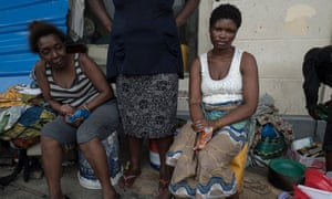 Laila Jorge (right) has been sleeping on the streets after her home was blown away during Cyclone Idai.