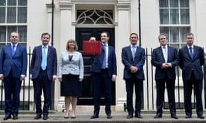 Harriett Baldwin, seen here with her Treasury colleagues