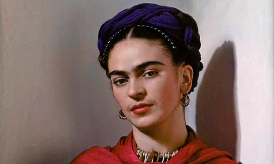 A portrait of Frida Kahlo by Nickolas Muray.