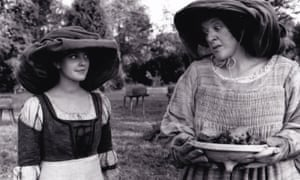 Kate Geraghty, right, with Drew Barrymore in the 1998 film Ever After. Her stage name was Kate Lansbury