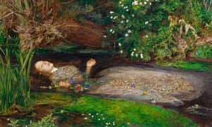 The painting Ophelia by John Everett Millais circa 1851, with Elizabeth Siddal as his muse