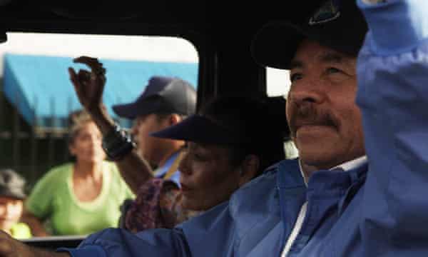 Daniel Ortega, the president of Nicaragua.