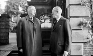 Harold Macmillan with France's President de Gaulle in 1961.