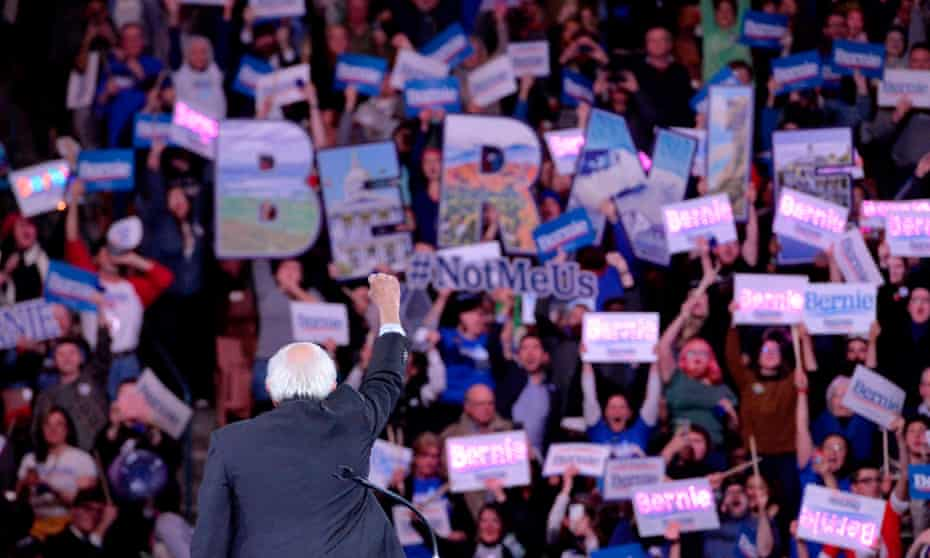 Bernie Sanders rallies supporters in New Hampshire.