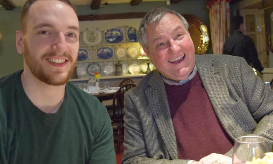 Chris Godfrey and his late father the Reverend Ian Godfrey