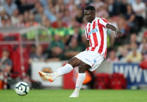 Stoke City's Oghenekaro Etebo in action during a pre season friendly against Wolverhampton Wanderers.