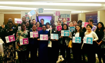 Representatives for the 20 winners of With and For Girls Collective's $1m in grants