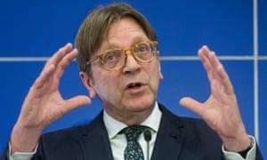 The European parliament's Brexit coordinator, Guy Verhofstadt.