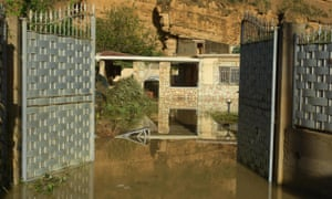 The home in Sicily where nine people died in flooding.