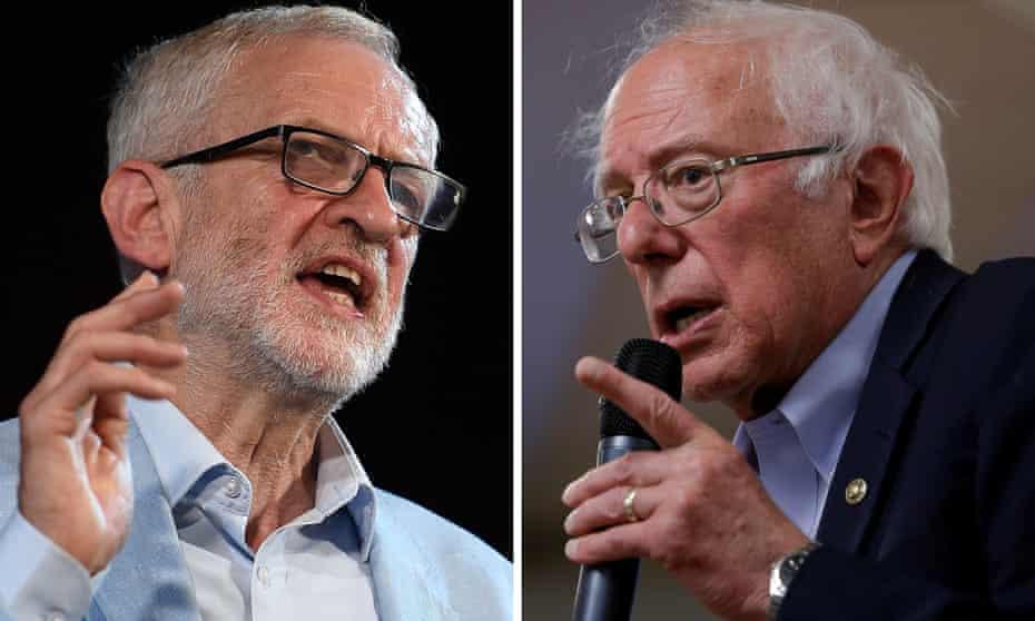 Jeremy Corbyn and Bernie Sanders
