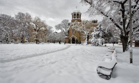 Snow in Sofia