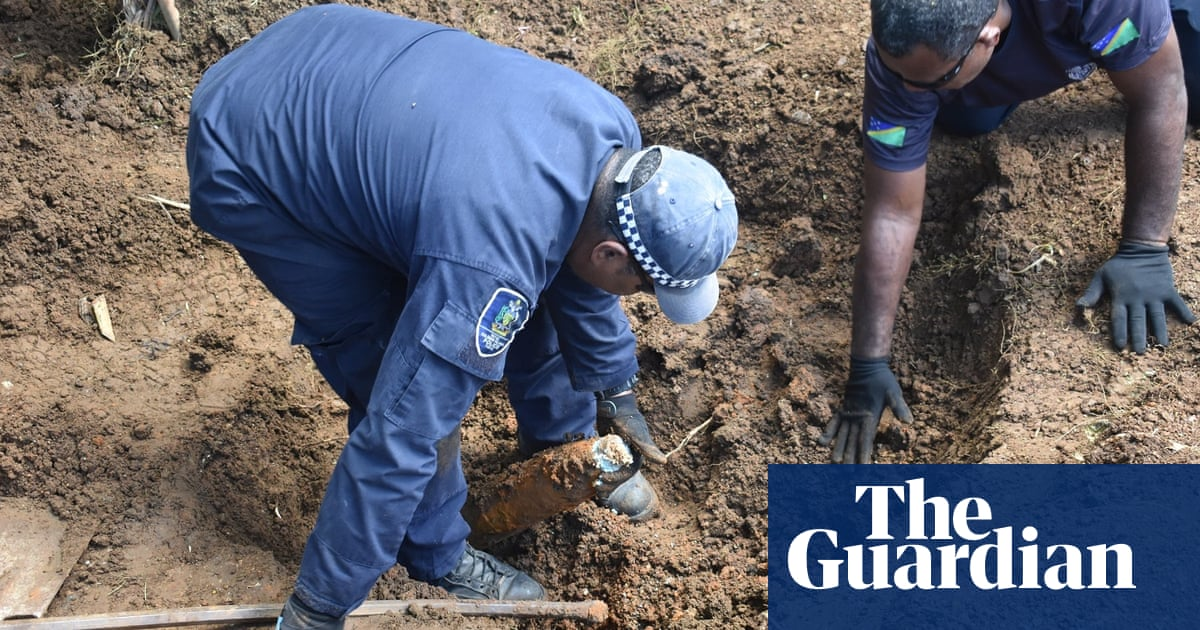 More than 100 unexploded bombs found in Solomon Islands backyard