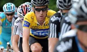 Simon Cope was questioned over the contents of a package that was handed to Bradley Wiggins, pictured, at the 2011 Critérium du Dauphiné.