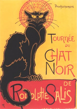 French Poster for Chat Noir CabaretTournee du Chat Noir de Rodolphe Salis by by Theophile Alexandre Steinlen (Photo by Found Image Holdings/Corbis via Getty Images)