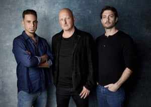 Leaving Neverland's director, Dan Reed, centre, with Michael Jackson's accusers Wade Robson and James Safechuck.