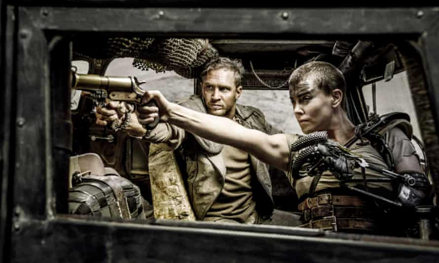 Tom Hardy and Charlize Theron in Mad Max: Fury Road.