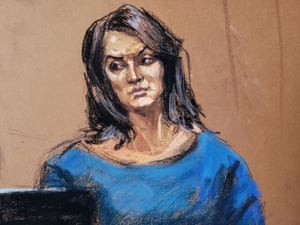 Actor Annabella Sciorra is cross-examined by lawyer Donna Rotunno on 23 January.
