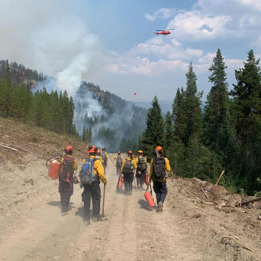Firefighters near Vernon, British Columbia, Canada including the son of Mary Stockdale, Opinion writer