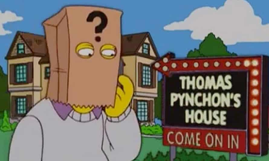 Self-mocking and publicity-shy … Pynchon makes his cameo in The Simpsons