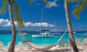 Keeping it offshore: Jost Van Dyke in the British Virgin Islands, a tax haven for the world's rich.