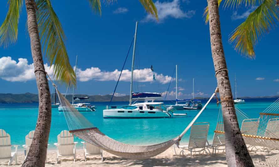Boats in harbour in the British Virgin Islands